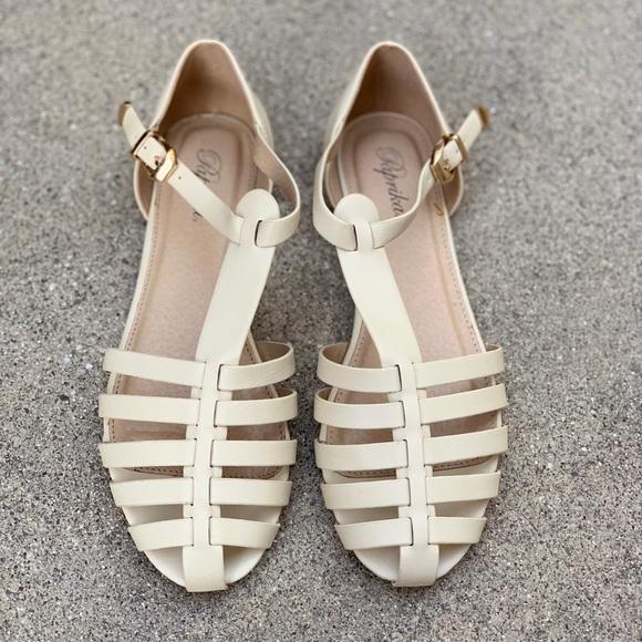 Paprika Gladiator Cage Ankle Strap Sandals